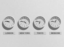 Jet lag travel clocks