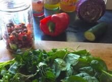 Salad in a jar recipe