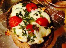 Crustless Margherita pizza recipe
