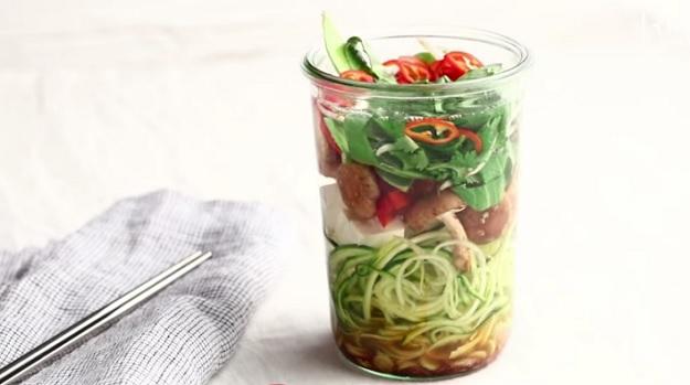 Mason jar Tom Yum soup recipe