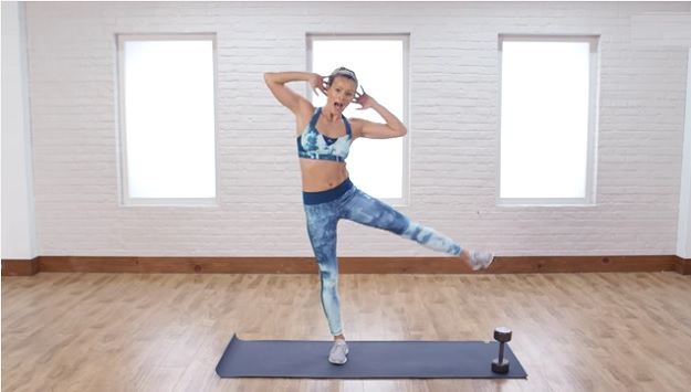 Standing abs workout video