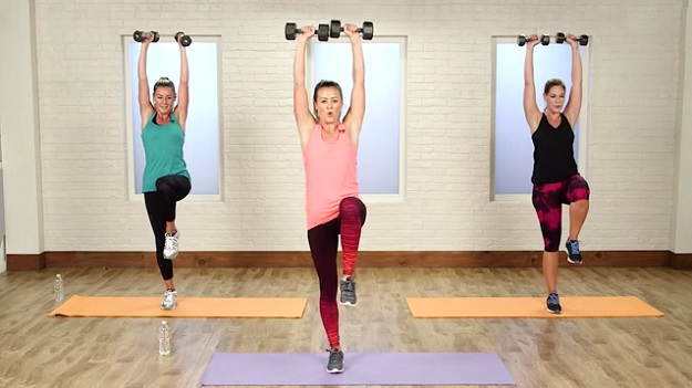 Metabolism-boosting workout video