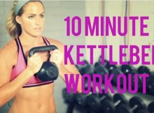 10-minute kettlebell workout video