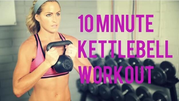 10-minute kettlebell workout video