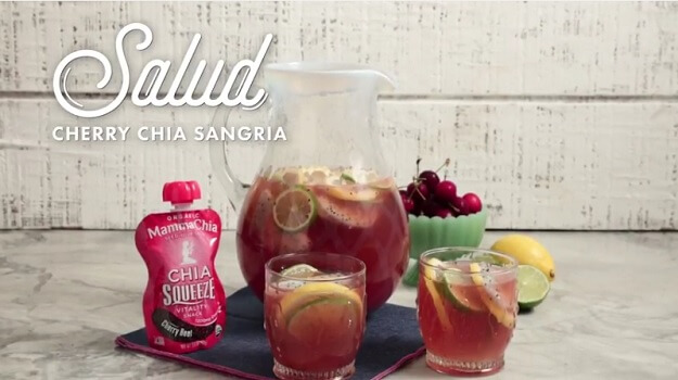 Cherry chia sangria recipe