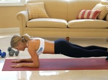 Plank exercise core workout video