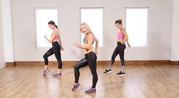 Cardio dance workout video