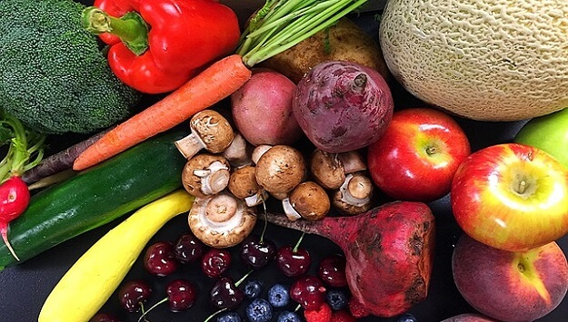 Healthy food colors