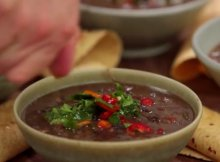 Costa Rican black bean soup recipe