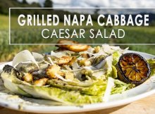 Grilled Napa cabbage Caesar salad recipe