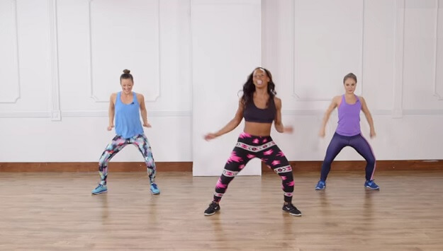 Home Latin dance workout video