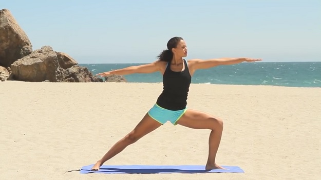Summer body beach yoga workout video