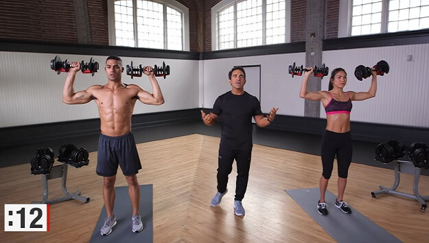 5-Minute workout video for arms and abs