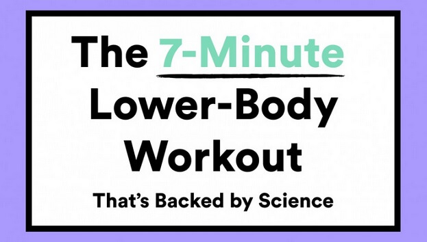 7-minute scientific lower body workout