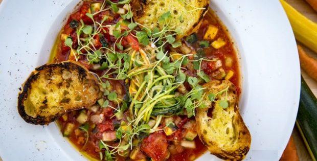 Summer garden gazpacho recipe