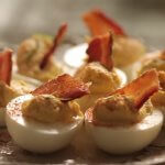 Blue cheese & bacon deviled eggs recipe
