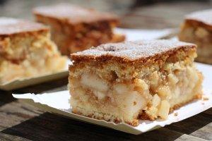Gluten-free keto apple pie bars dessert recipe
