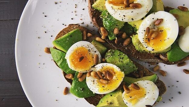 Keto Avocado Toast with eggs recipe