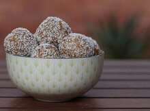 Nutty almond coconut turmeric snack balls recipe