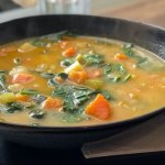 Autumn beans & greens soup recipe