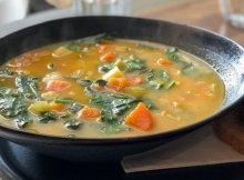 Autumn beans & greens soup recipe