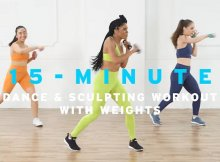 15-minute cardio dance & sculpt workout video