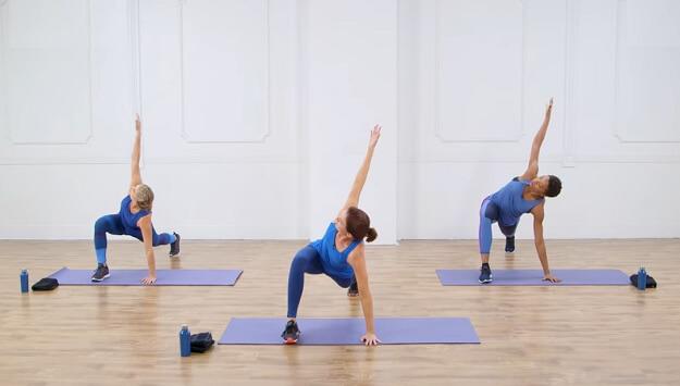 Cardio-Pilates fusion workout video