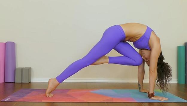 Belly fat blasting yoga class video