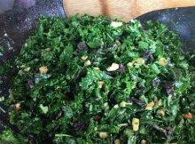 Healthy herbed kale pesto salad recipe