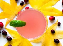 Healthy rosemary cranberry winter mocktail recipe