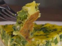 Keto broccoli pesto frittata recipe