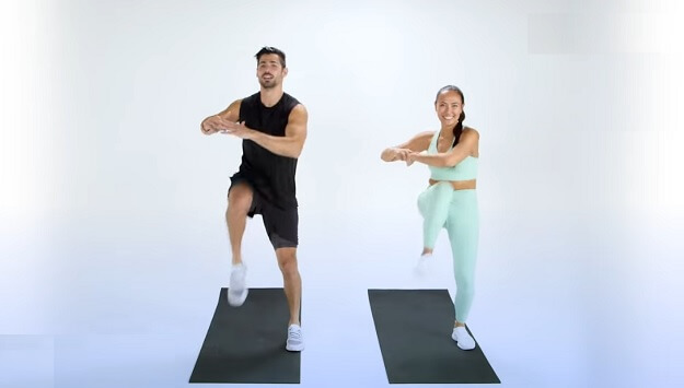 8-minute cardio workout video for travel